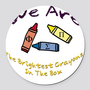 Brightest In The Box Round Car Magnet