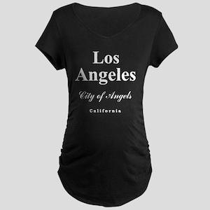 LA_10x10_apparel_CityOfAnge Maternity Dark T-Shirt