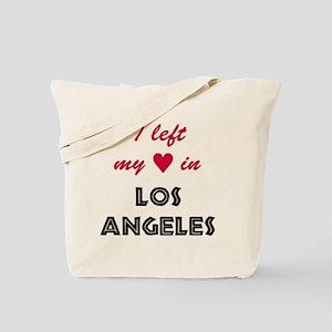 LA_10x10_apparel_LeftHeart_BlackRed Tote Bag
