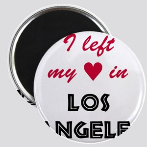 LA_10x10_apparel_LeftHeart_BlackRed Magnet