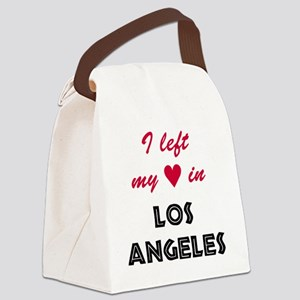 LA_10x10_apparel_LeftHeart_BlackR Canvas Lunch Bag