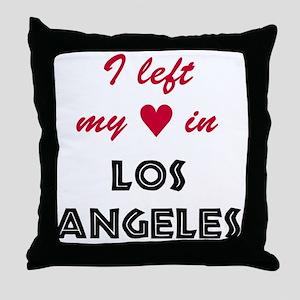 LA_10x10_apparel_LeftHeart_BlackRed Throw Pillow