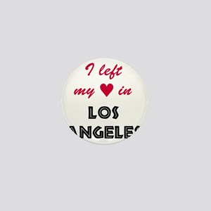 LA_10x10_apparel_LeftHeart_BlackRed Mini Button