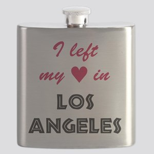 LA_10x10_apparel_LeftHeart_BlackRed Flask