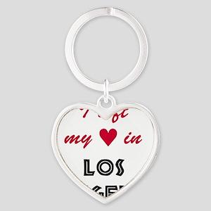 LA_10x10_apparel_LeftHeart_BlackRed Heart Keychain