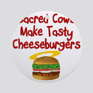 Sacred Cows Round Ornament
