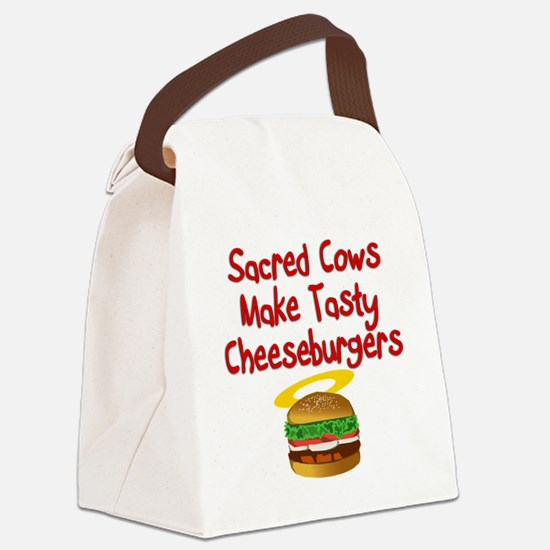 Sacred Cows Canvas Lunch Bag