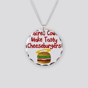 Sacred Cows Necklace Circle Charm