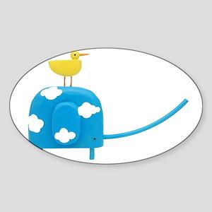 blueskyelephant Sticker (Oval)