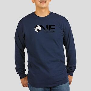 ONE earth Long Sleeve Dark T-Shirt