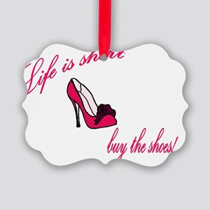 buy the shoes Picture Ornament