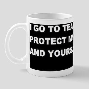 TEA PARTIES TO PROTECT MY FREEDOMDBUTTO Mug
