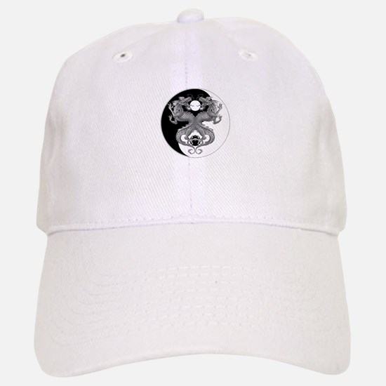 Yin Yang Dragons 1 Baseball Baseball Cap