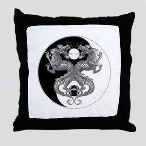 Yin Yang Dragons 1 Throw Pillow