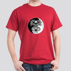 Yin Yang Dragons 1 Dark T-Shirt
