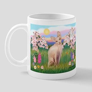 Spring Blossoms & Sphynx Cat Mug