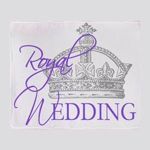 Royal Wedding  Crown 2 Throw Blanket