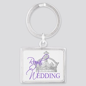 Royal Wedding  Crown 2 Landscape Keychain