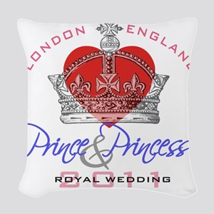 Heart  Crown P and P 1 Woven Throw Pillow