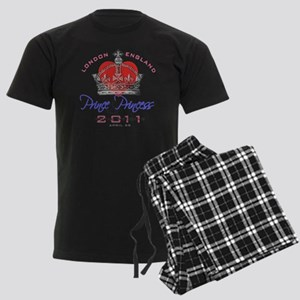 Heart  Crown P and P 1 Men's Dark Pajamas