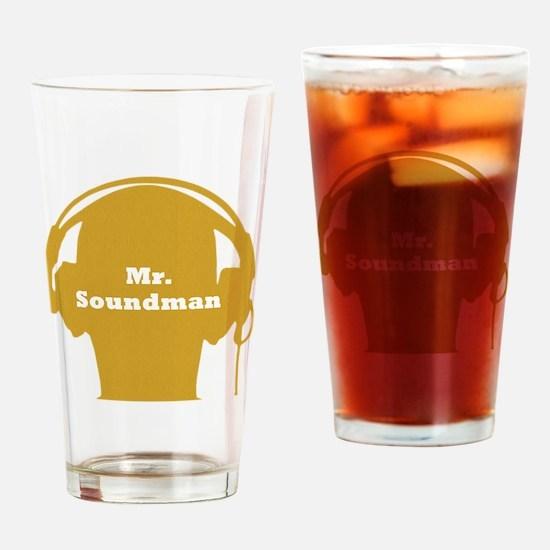 SoundManBigYellow Drinking Glass