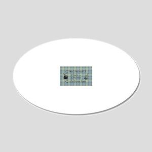 OvalSticker 20x12 Oval Wall Decal