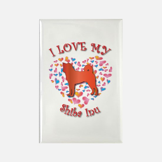 Love Shiba Inu Rectangle Magnet