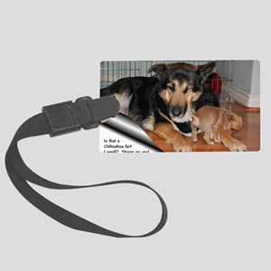 GSD-Chi-Chi fart Large Luggage Tag