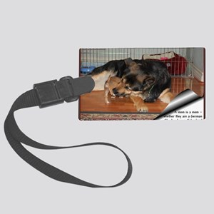 GSD-Chi-moms are moms Large Luggage Tag