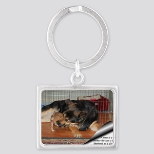 GSD-Chi-moms are moms Landscape Keychain