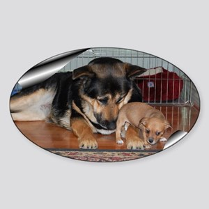 GSD-Chi-smell sweeter Sticker (Oval)