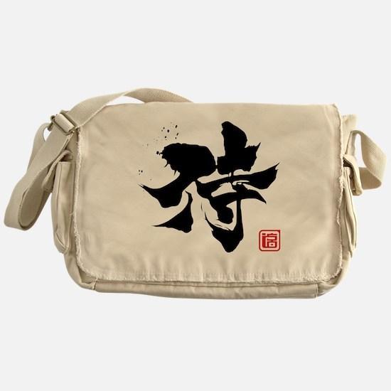 samurai kanji asian japanese chinese Messenger Bag