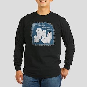 Meetup - grunge backgroun Long Sleeve Dark T-Shirt