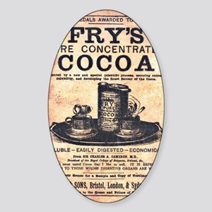Frys Pure Concentrated Cocoa Sticker (Oval)
