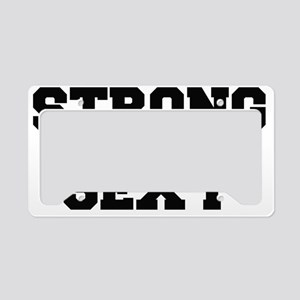 Strong and Sexy Alt License Plate Holder
