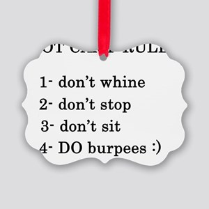 bootcamp rules Picture Ornament