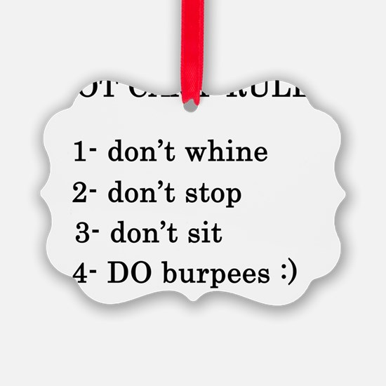 bootcamp rules Ornament