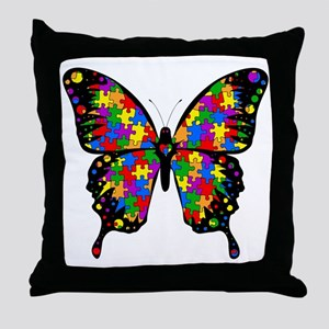 autismbutterfly-transp Throw Pillow