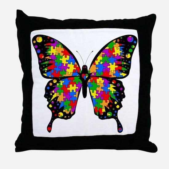 autismbutterfly-transp Throw Pillow