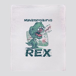 Personalize This T-Rex Throw Blanket