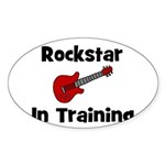 Rockstar In Training Oval Sticker