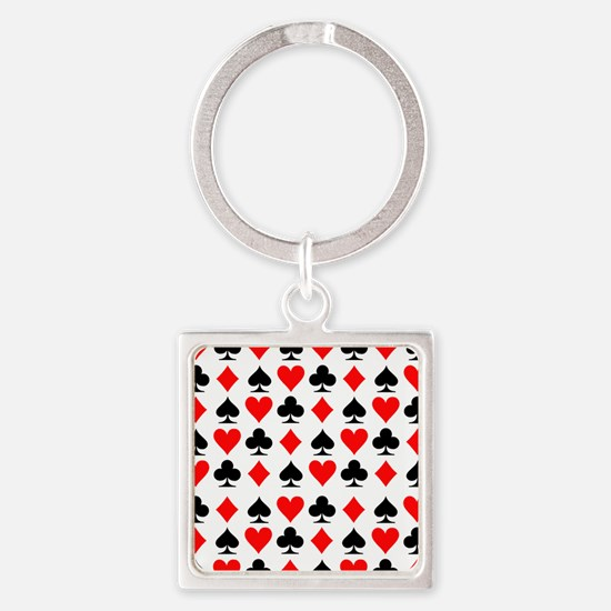 poker_signs_field_big Square Keychain