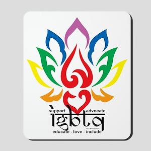 LGBTQ-Lotus-Flower Mousepad