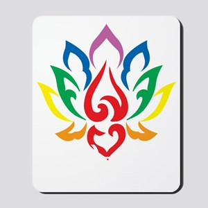 LGBTQ-Lotus-Flower-blk Mousepad