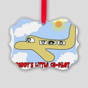 Daddys little copilot Yellow Picture Ornament
