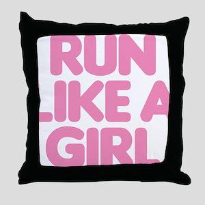 Run Like A Girl Throw Pillow