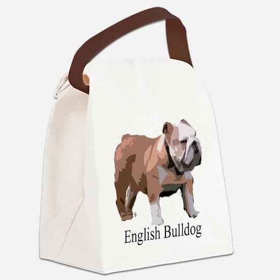 English Bulldog for Cafe Press co Canvas Lunch Bag