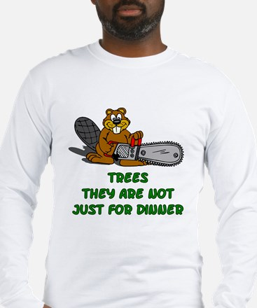 ChainSawBeaver_TS Long Sleeve T-Shirt