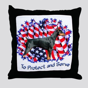 Dobie Protect Throw Pillow