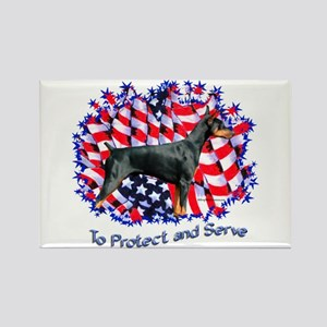 Dobie Protect Rectangle Magnet